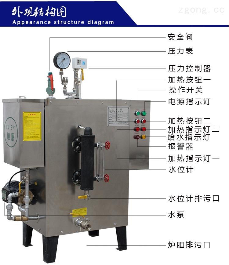旭恩专用36kw电热蒸汽发生器参数
